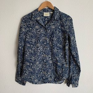 Maeve for Anthropologie floral button down shirt
